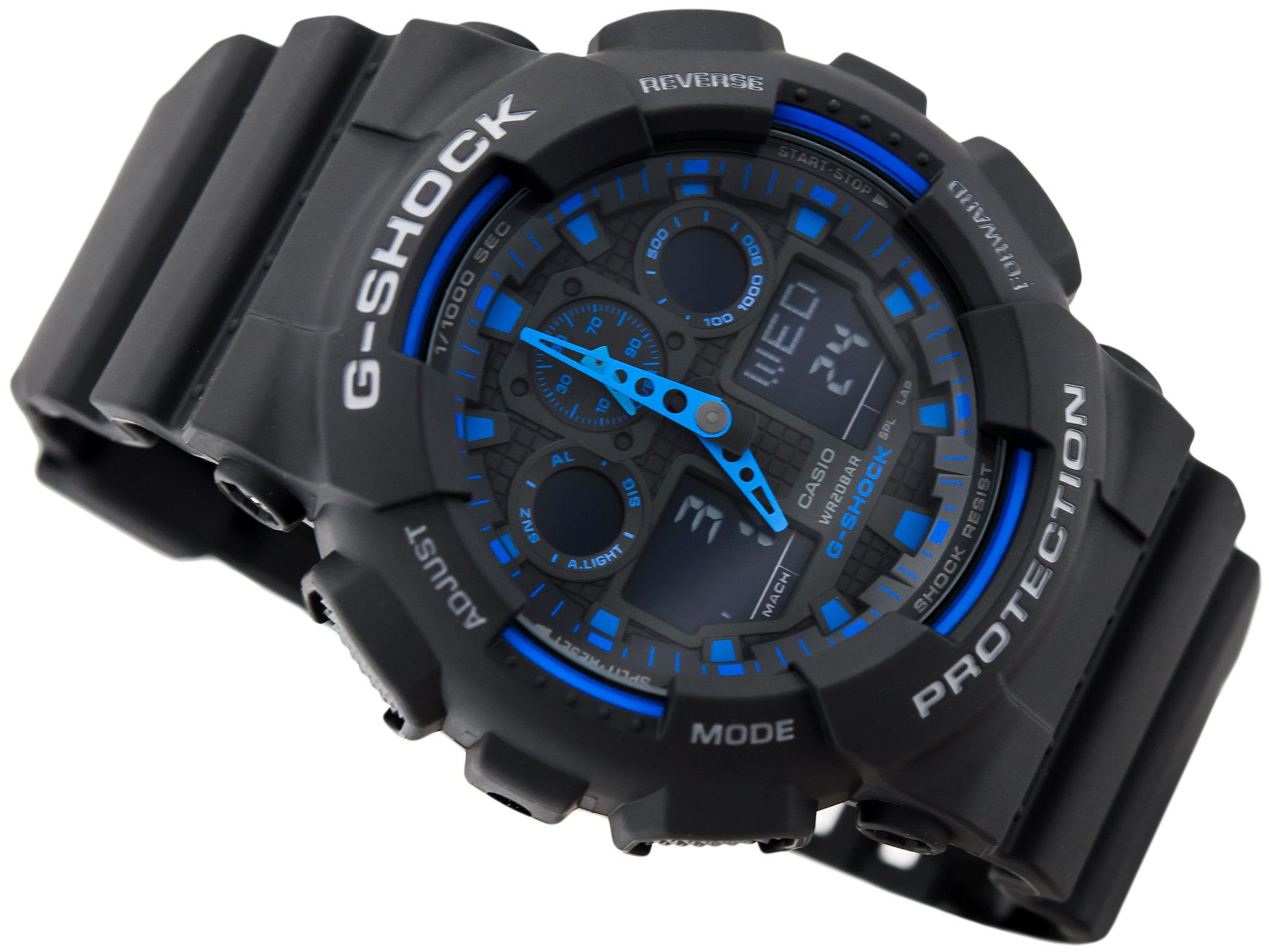 shock zegarek czarny na rece